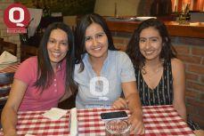 Patricia Díaz, Alondra Gómez y Marina Díaz