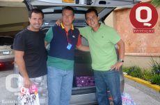 Rodrigo Velászquez, Manuel Padilla y Juan Carlos Collazo