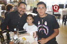 Ray García, Inés García y Santiago García