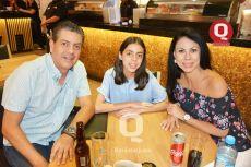 Ricardo Padilla, Andrea Padilla y Silvia Muñoz