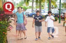Ingrid Luce y sus hijos Pato Muñoz, Fabian Muños e Ingrid Muñoz