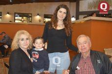 Paulina Pedrero, Ánegeles Padilla, Leonardo García y Hugo Pedrero
