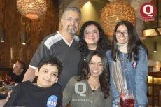 Roberto Martínez, Brenda Martínez, Ana Paula Martínez, Roberto Martínez y Mónica Luna