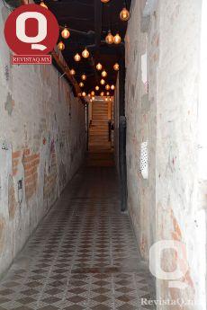 El pasillo que conduce al lugar de Las Judas